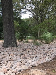 River stones supplied by Diversified Services and installed by ProscapeRI